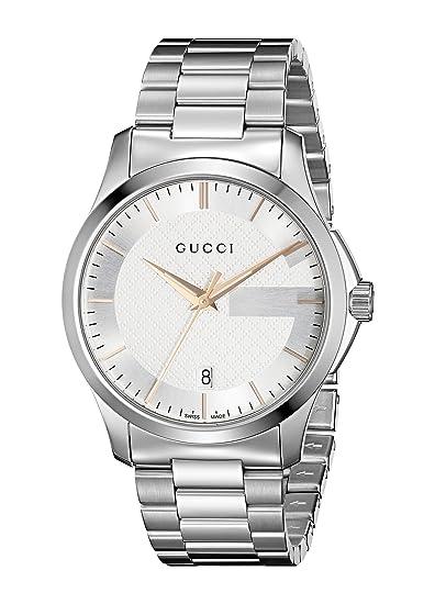 Reloj Gucci para Hombre YA126442  Amazon.es  Relojes 230adc3d9bc