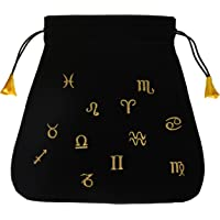 Astrological Black Velvet Tarot Bag