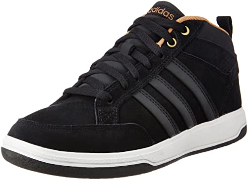 8fe4f4d874c adidas neo Men s Oracle VI Mid Cblack and Magold Leather Sneakers - 12  UK India