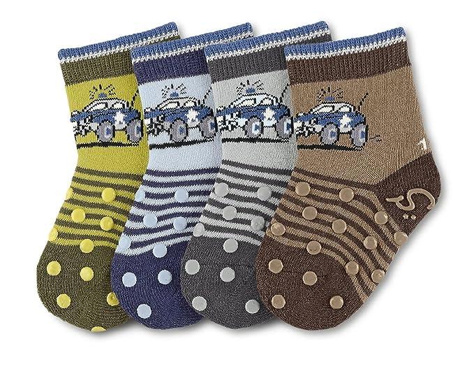 Azul-azul Sterntaler gatear calcetines de rayas con Policía-AUTO Gr, 15-16, color 373: Amazon.es: Ropa y accesorios