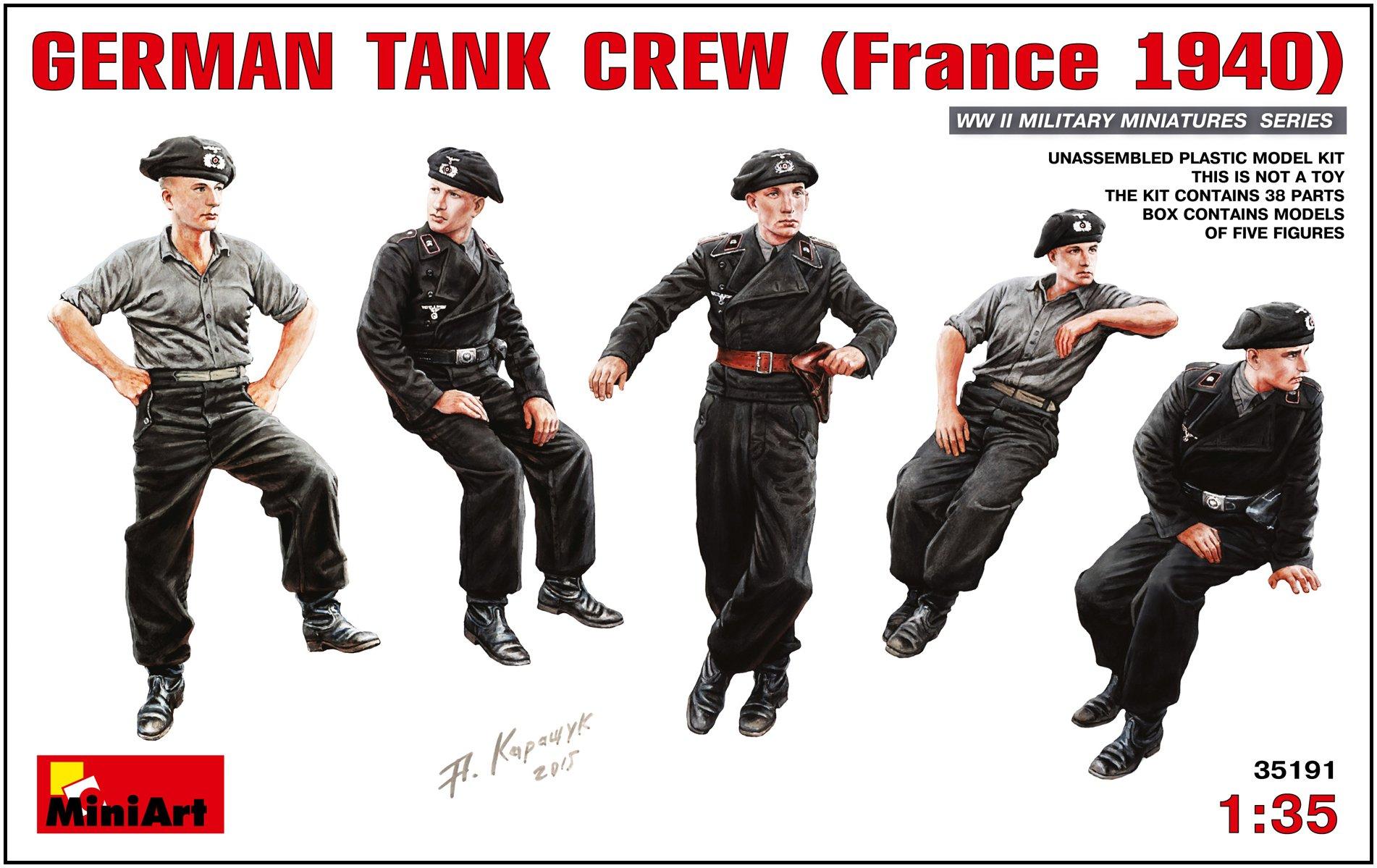Miniart 1:35 - German Tankcrew (france 1940) by MiniArt (Image #1)