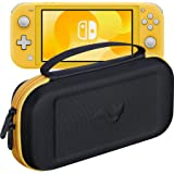 ButterFox Compact Case for Nintendo Switch Lite with 19 Game and 2 Micro SD Card Holders - Yellow/Black