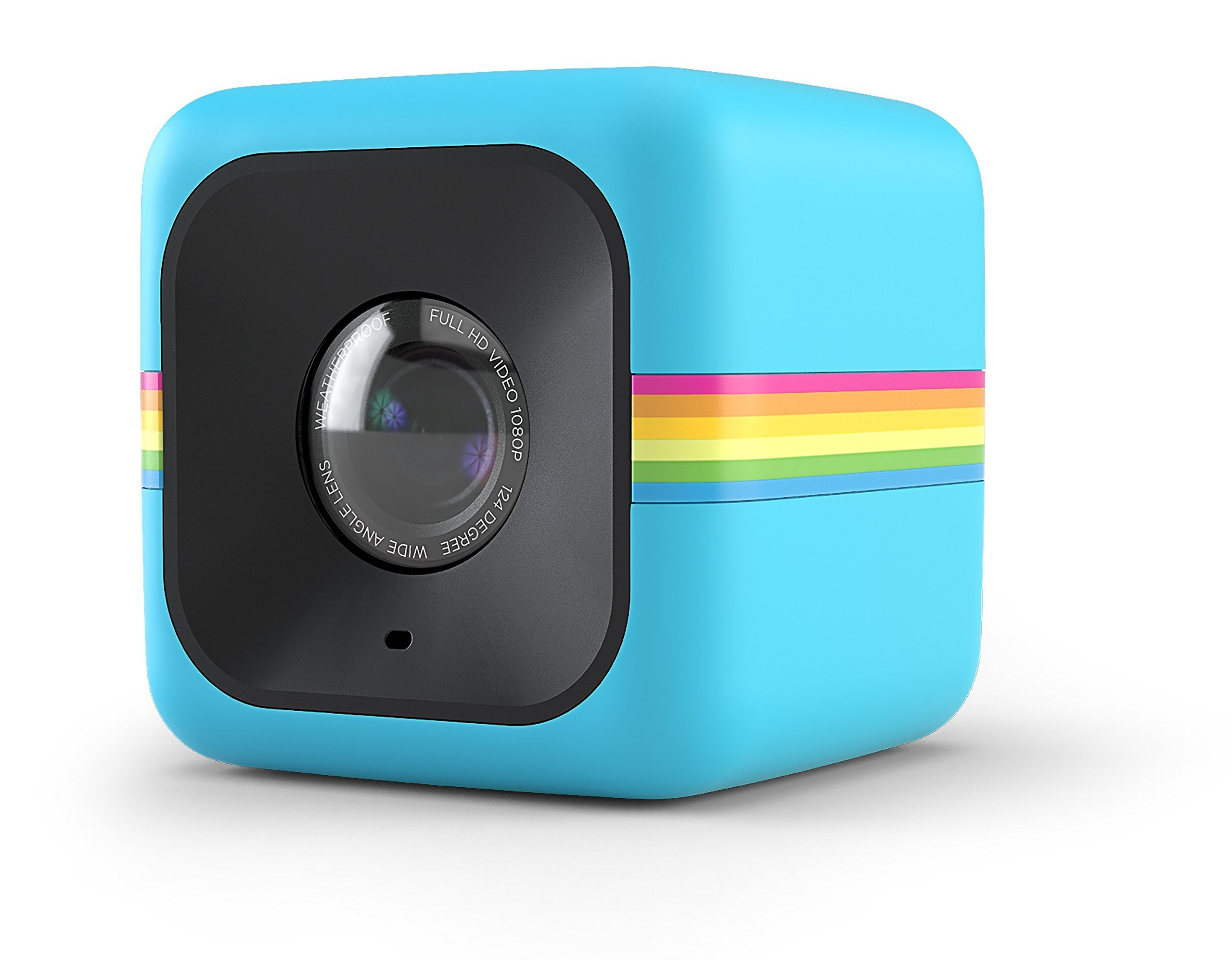 Polaroid Cube+ 1440p Mini Lifestyle Action Camera with Wi-Fi & Image Stabilization (Blue)