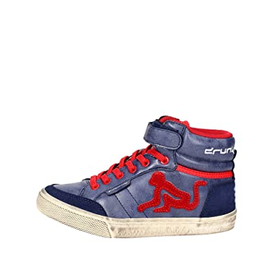 DrunknMunky - Zapatos de cordones de Lona para niño azul turquesa azul Size: 27 otOTh
