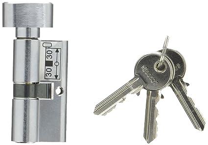 Abus - Cilindro de cerradura de puerta, Gris, 39510