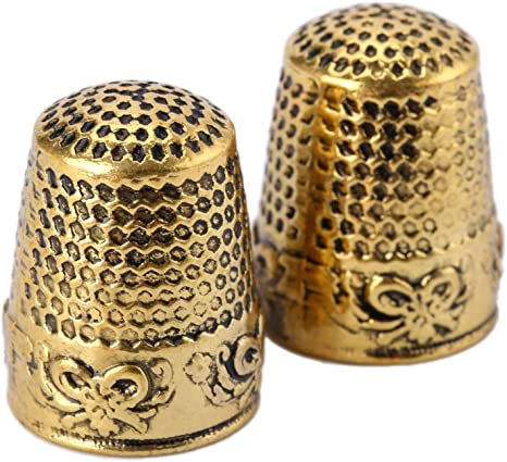 10 Pieces Sewing Thimble Quilting Needlepoint Metal Finger Protector Craft Tools for DIY Craft