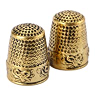 1Pc Gold Finger Thimble Sewing Grip Fingertip Protector Metal Shield Pin Needles Partner for DIY Crafts Tools Needlework