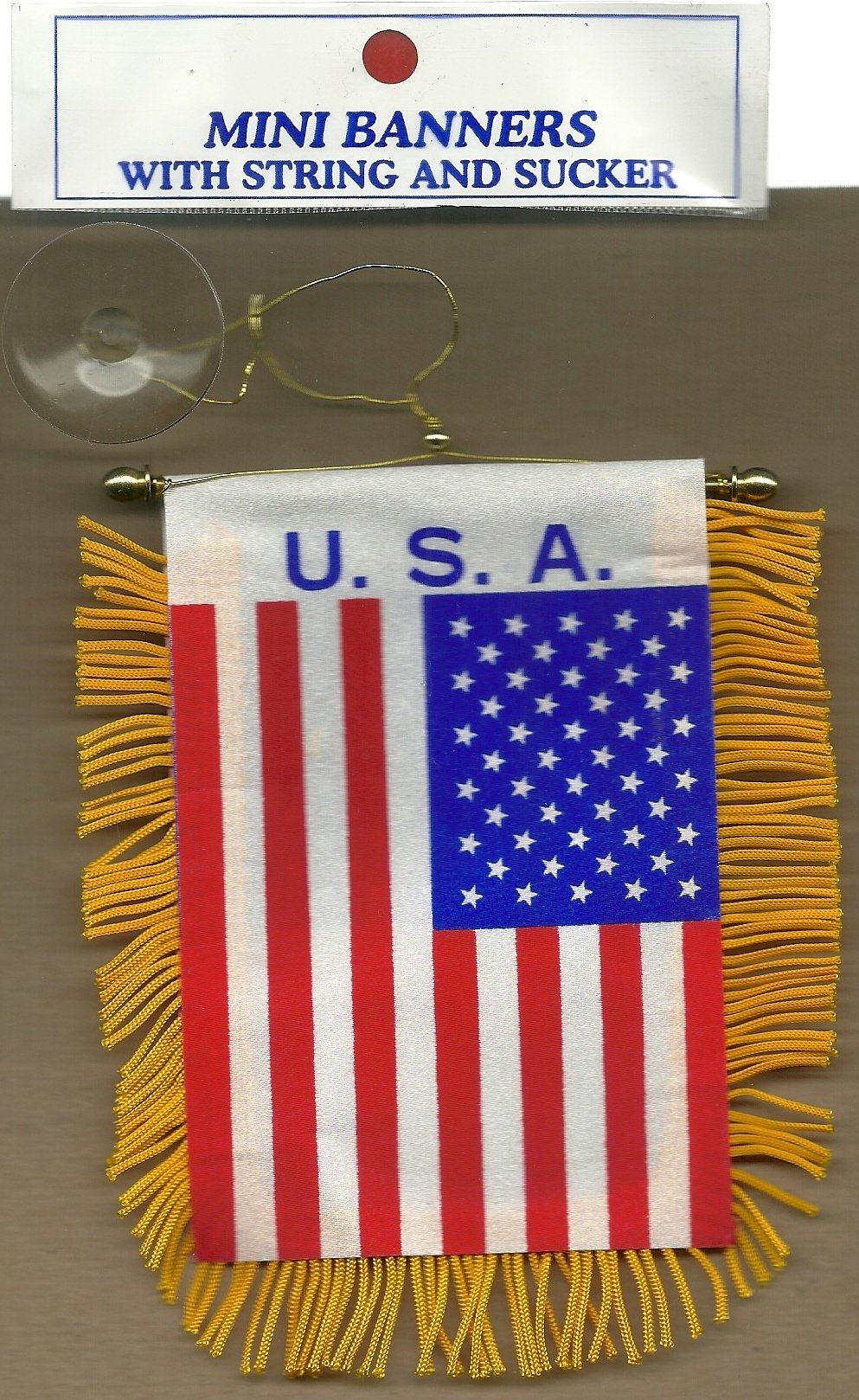 USA Mini Banner(Painted On Both Sides.3 inch.x 5 inch.)