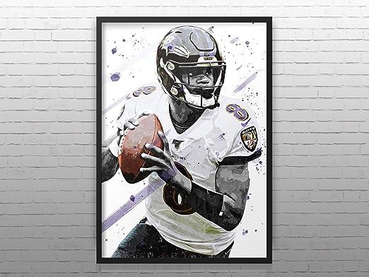 Amazon Com Tiktok Studio Lamar Jackson Print Lamar Jackson Poster Baltimore Team Poster American Football Print American Football Poster Nfl Wall Decor Posters Prints