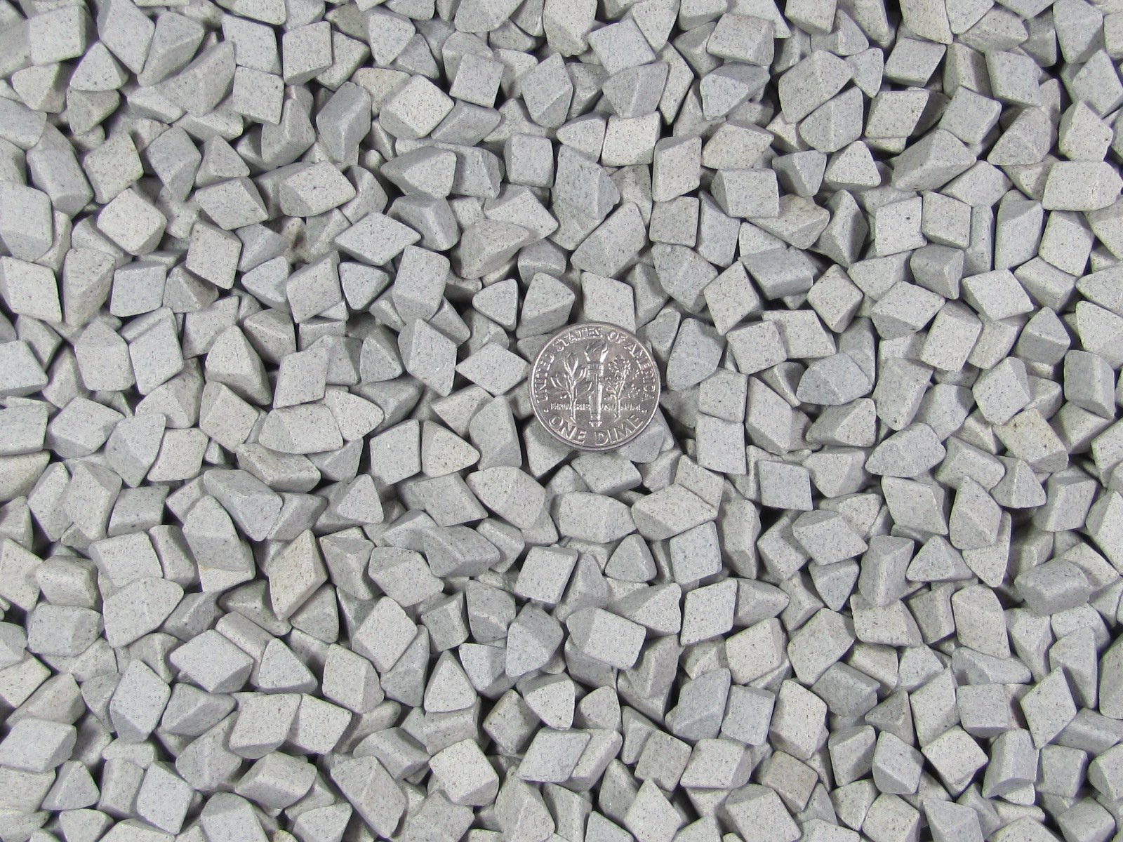 5 Lb. 1/4'' X 1/4'' Fast Cutting Triangle Abrasive Ceramic Porcelain Tumbling Tumbler Tumble Media