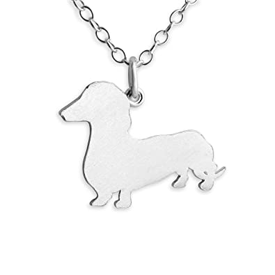 Amazon 925 sterling silver dachshund wiener dog pendant amazon 925 sterling silver dachshund wiener dog pendant necklace 14 inches dachshund jewelry jewelry aloadofball Image collections