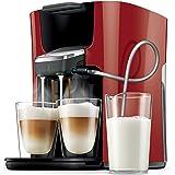 Philips Senseo HD7855/80 Independiente Totalmente automática Máquina de café en cápsulas 1L Rojo - Cafetera (Independiente, Máquina de café en cápsulas, Rojo, Taza, 1 L, Dosis de café)