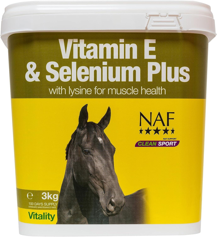 Alimentos de animales naturales NAF Vitamina E y Selenio Plus