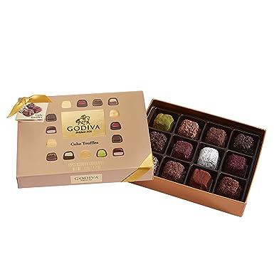 Godiva, Cube Truffles bombones trufas surtidas caja regalo 12 piezas, 120g