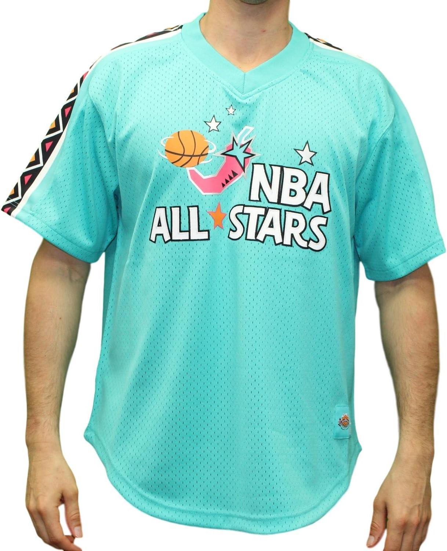 Mitchell & Ness NBAオールスター1996 East NBAメンズメッシュジャージーシャツ – ティール  Small