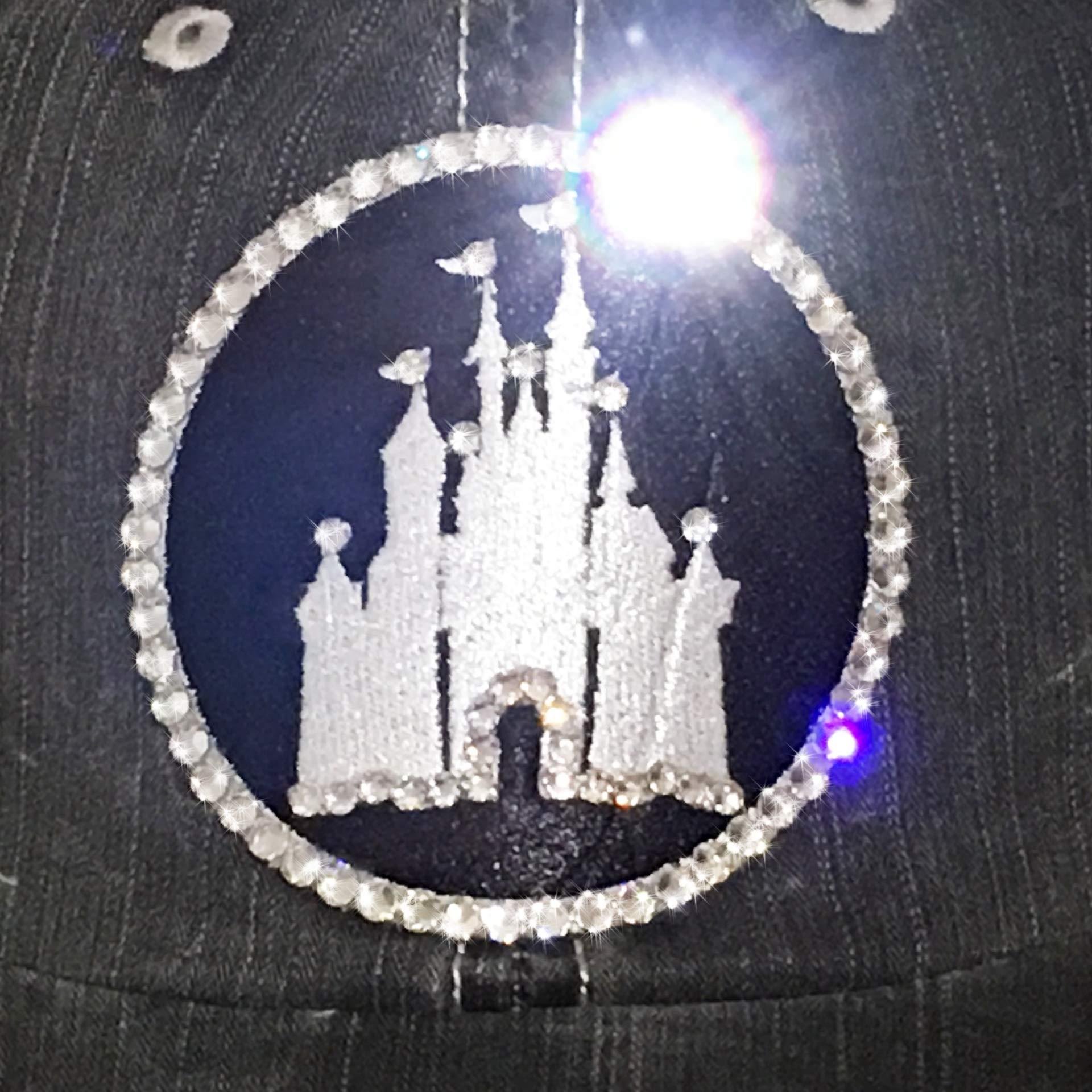 Disney High Ponytail Hat Bedazzled Mesh Baseball Cap Swarovski Crystal Bling Gray by Elivata (Image #4)