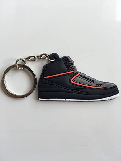 90587e1791a9 Amazon.com   Jordan Retro 2 Eminem Sneaker Keychain Shoes Keyring AJ 23 OG    Sports   Outdoors