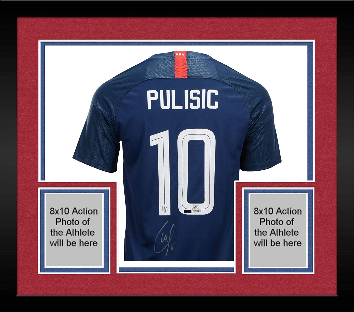 wholesale dealer c0893 20c84 Framed Christian Pulisic Team USA Autographed Blue USA ...