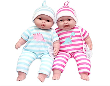 JC Toys Lots to Cuddle Babies 13-Inch Baby Soft Doll Soft Body Twins Designed