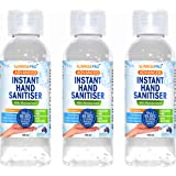 Australian Alcohol Hand Gel with 70% Ethanol with Moisturiser That Kills Germs | Suitable for Office, Home, in Your Car, School Or Anywhere (100ml) by Sunrisepro - 3 Pack