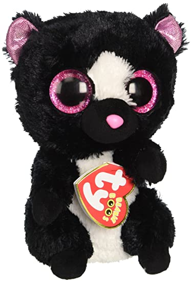Amazon.com  New Original TY Beanie Boos Big Eye Flora the Skunk Plush Toys  Stuffed Animals Toys For Children Gifts Kids Toys 15CM  Baby 6235d6758f6d