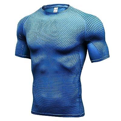 MingDe Men's Dry Fit Athletic Compression T Shirts Running Shorts 2 Pack Set