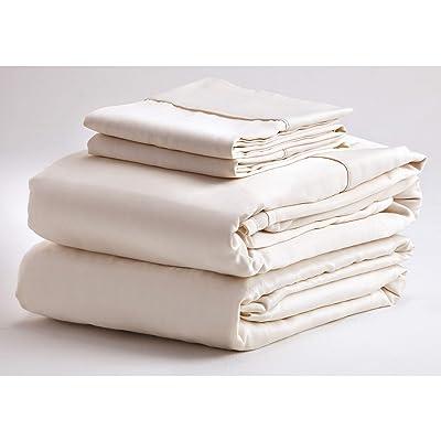 Denver Mattress 343519 Bed Sheet Set, Brushed Microfiber Bedding, Super Soft, Hypoallergenic- Deep Pocket 4 piece (King, Ivory): Automotive [5Bkhe2010090]