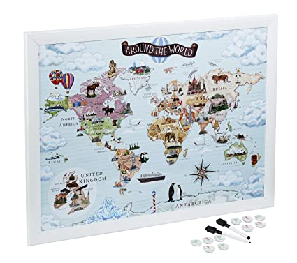 Amazon world map magnetic whiteboard maps to draw pin and world map magnetic whiteboard maps to draw pin and plan your travels around gumiabroncs Gallery