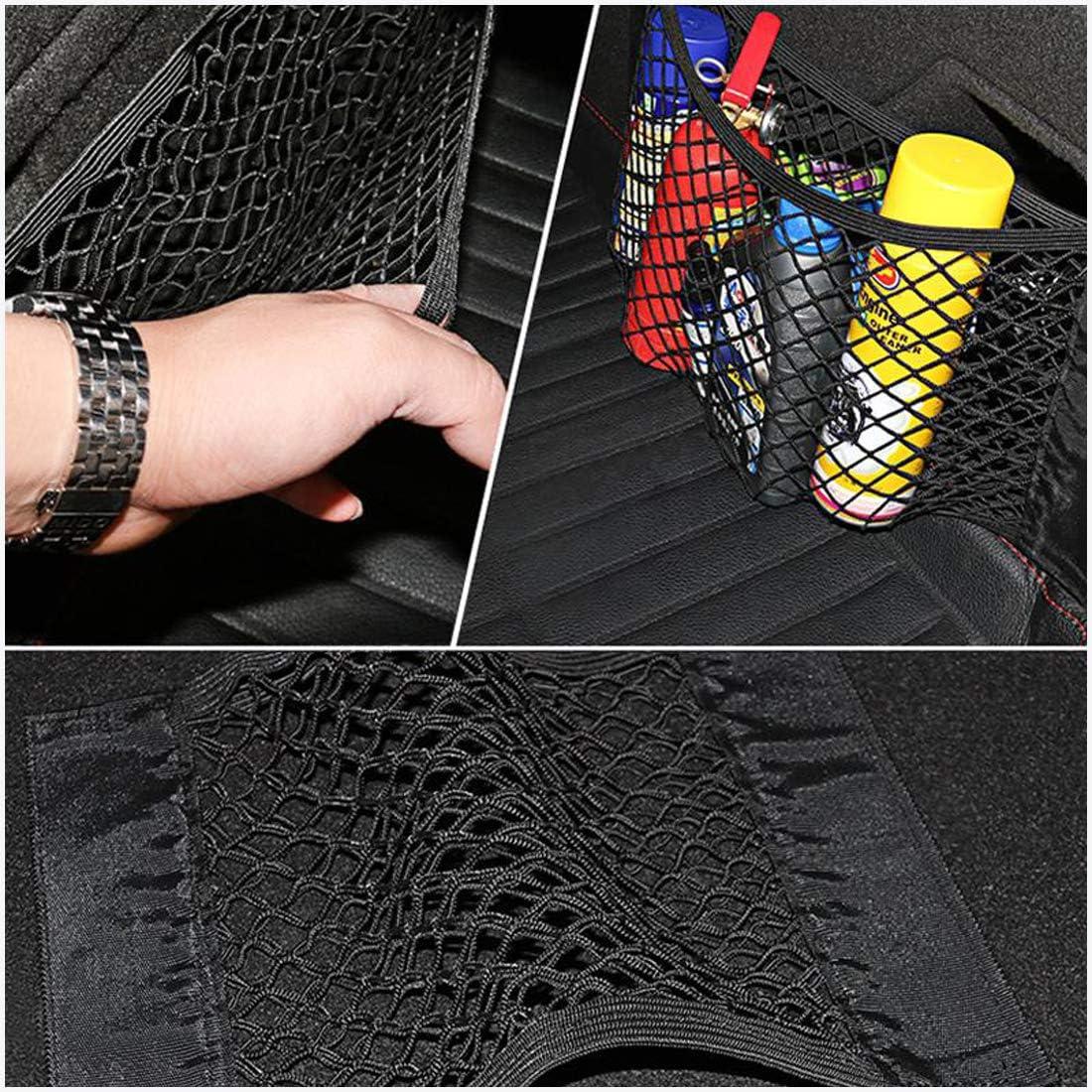 Bigbigjk 3 Pack Net Stretchable Universal Adjustable Elastic Truck Net with Hooks