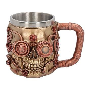 Steunk Deko amazon de krug bierkrug trinkgefäß skull steunk