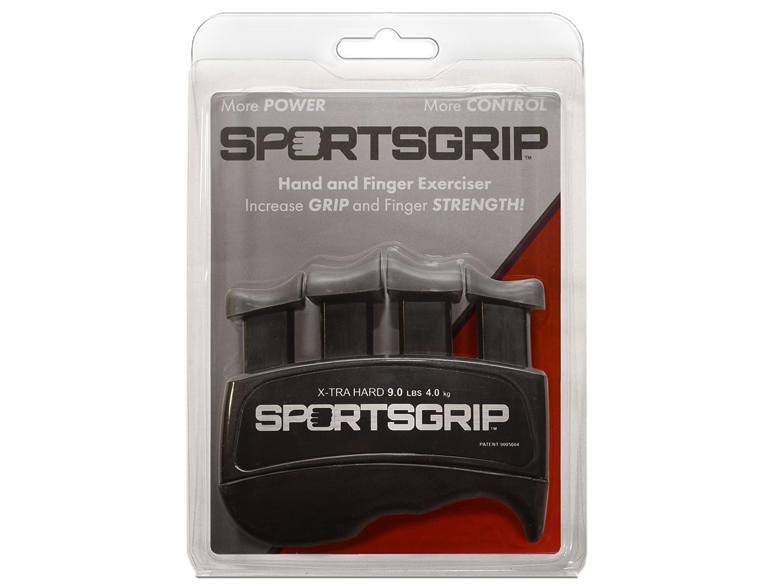 SPORTSGRIP Hand and Finger Exerciser Xtra Hard – 9lbs 4.0kg Best Ergonomic Finger Strengthener to Improve Grip for All Sport Athletes