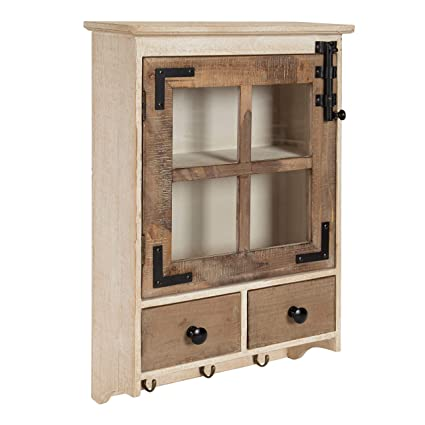 Amazon Kate And Laurel Hutchins Farmhouse Wood Wall Cabinet