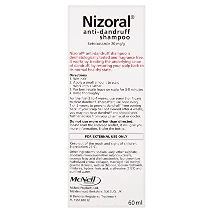 Admirable Nizoral Anti Dandruff Shampoo 60 Ml Amazon Co Uk Health Short Hairstyles For Black Women Fulllsitofus