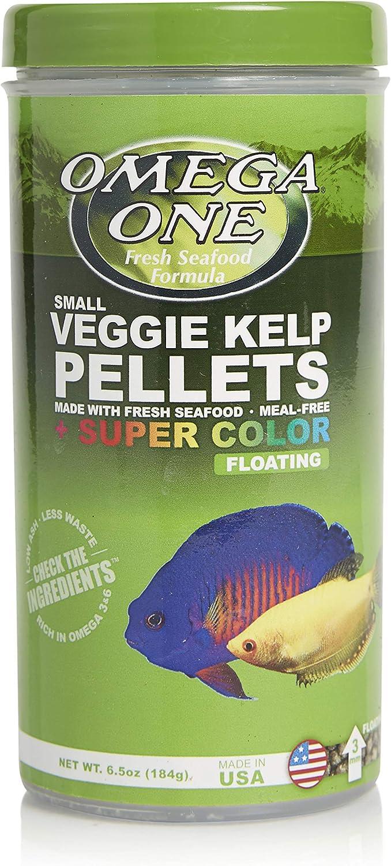 Omega One Super Color Veggie Kelp 3mm Floating Pellets, 6.5 oz Container
