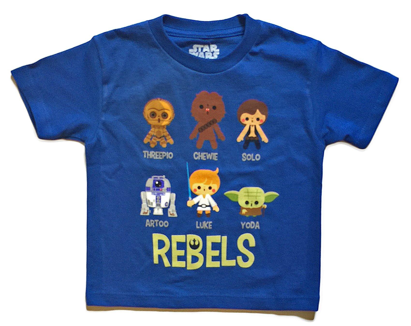 Star Wars Toddler Boys Little Rebels Character T Shirt (5/6)