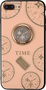 iPhone 7Plus 8Plus Rhinestone Case,Awin Luxurious Original Clock Watch Time Women Girls Soft TPU Shiny Rhinestone Case with Kickstand Ring for iPhone 6Plus 6S Plus 7Plus 8Plus (Rose Gold)