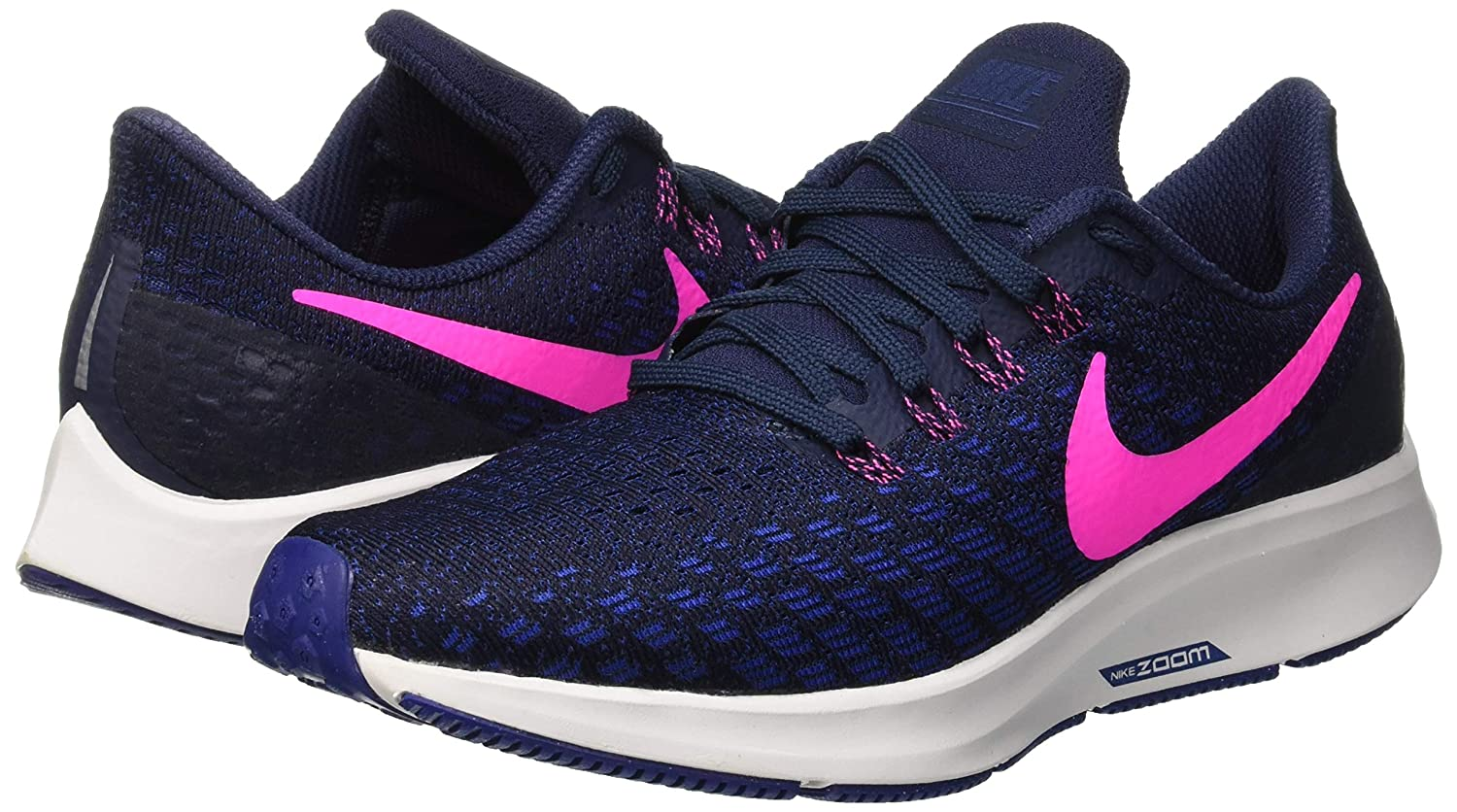 Nike Women's Air Zoom Pegasus 35 Running Shoes, Blue (ObsidianPink BlastDeep Royal 401), 8.5 M US