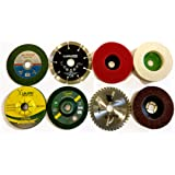 14 PIECE COMBO SET OF GRINDING WHEEL DISC CUTTING POLISHING BUFFING WOOD MARBLE STONE GRANITE STEEL METAL PLASTIC