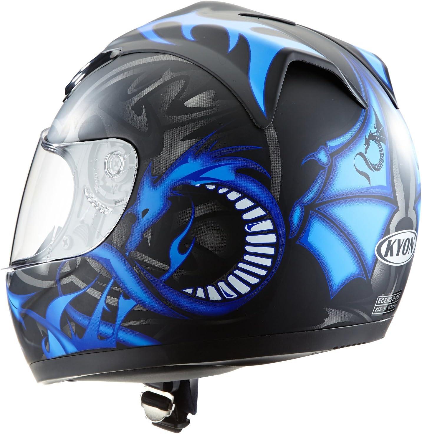 Protectwear Motorradhelm Integralhelm Drachendesign Schwarz Silber Blau Xs Auto