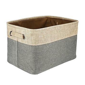 Huaforcity Aufbewahrungsbox Stoff Bad Wasche Stoffbox Baumwolle