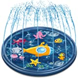 Neteast Outdoor Sprinkler Mat Summer Toys for Kids and Toddlers, 68'' Outside Splash Pad Water Toys for 1 2 3 4 5 6 7 8…