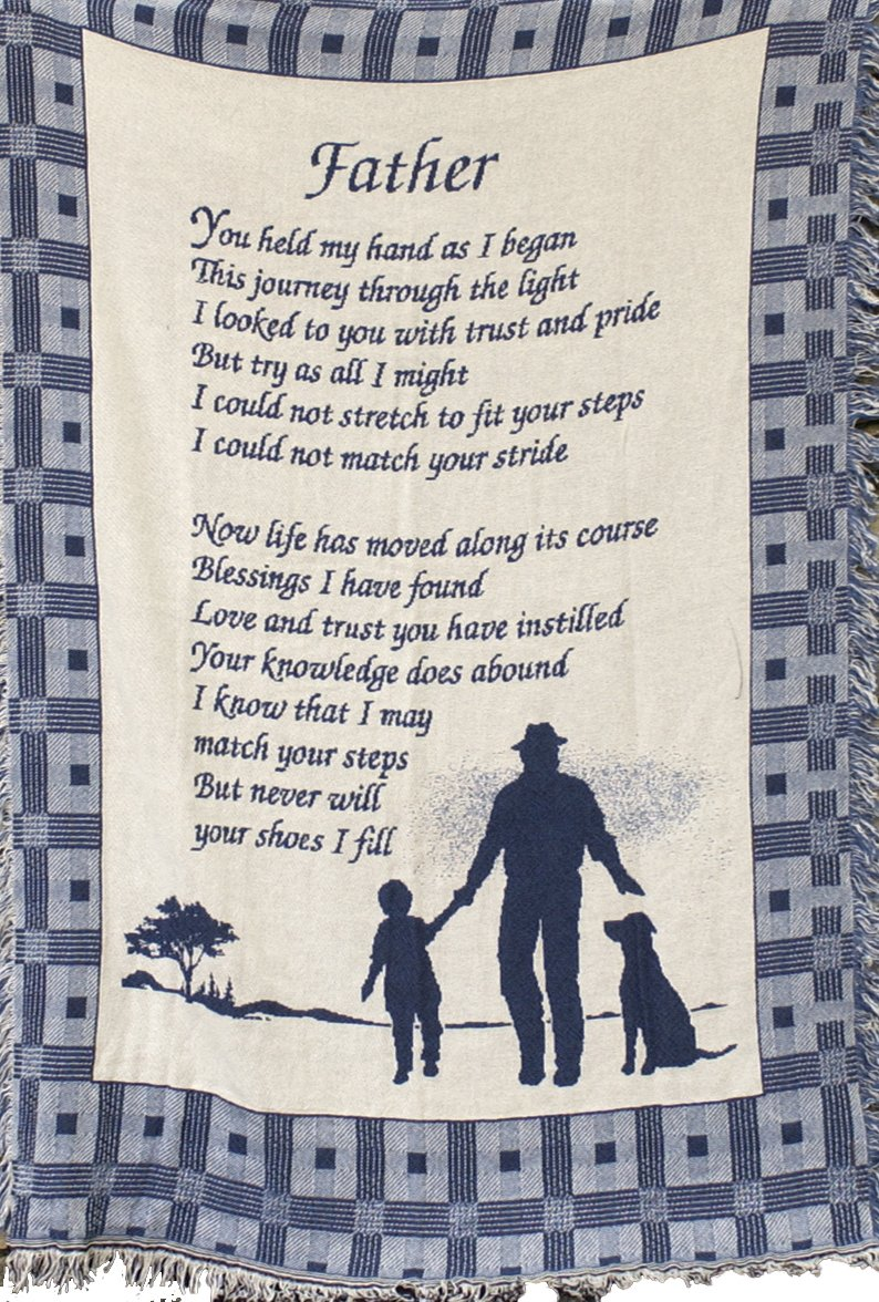Manual 46 X 60-Inch Throw with Fringe, Father You Held My Hand by Manual Woodworker