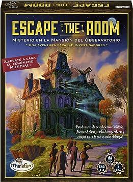 Oferta amazon: ThinkFun 76368, Escape The Room: Misterio en la Mansión del Observatorio, Juego de mesa, Versión en Español, 3-8 Jugadores, Edad Recomendada 10+