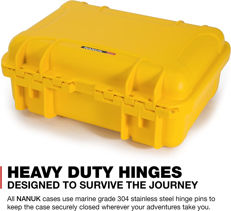 Yellow Nanuk Drone Waterproof Hard Case with Custom Foam Insert for DJI Mavic Air