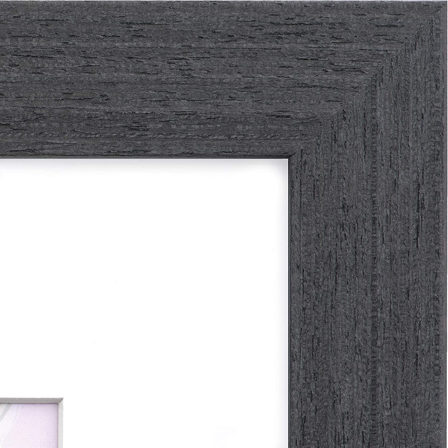 16x20 Frame Rustic Black Frames by EcoHome Matted to 11x14 Picture