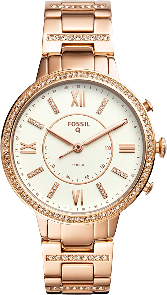 Amazon.com: Fossil Virginia - Reloj inteligente híbrido de ...