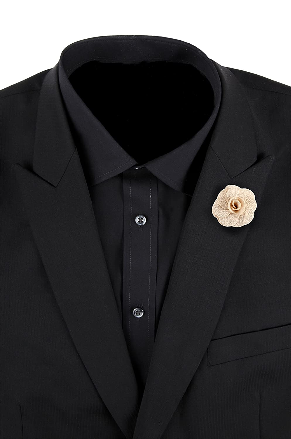 Mens Lapel Flower Pin Handmade Boutonniere For Suit Begonia