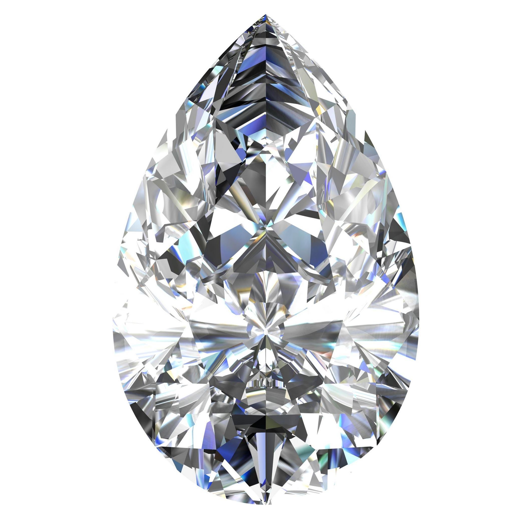 GIA Certified Natural 1.51 Carat Pear Diamond with I Color & SI1 Clarity