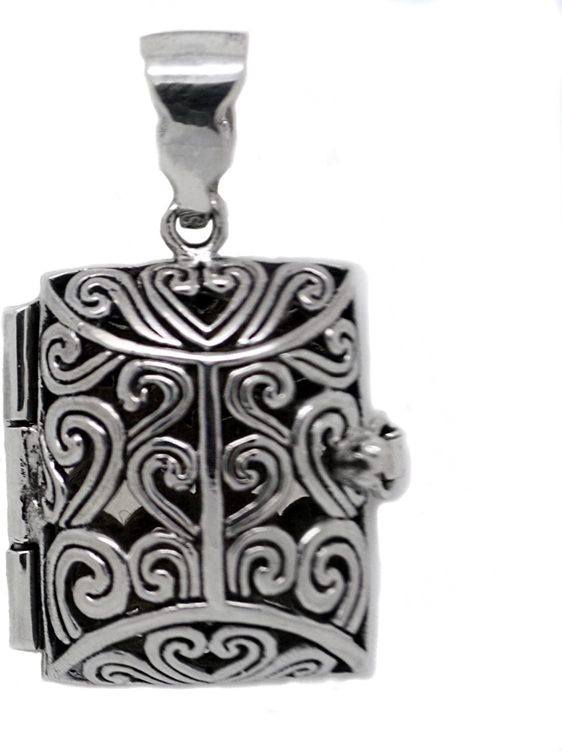 Antique Bronze or Silver Celtic Filigree Locket with 12 wool felt pads-Aromatherapy Necklace Essential Oil Diffuser Necklace