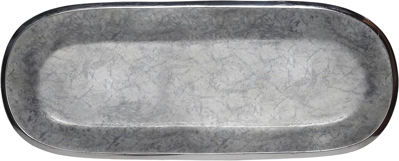Light Gray Melange Home Decor Rectangle Tray Platter 14-inch Bowl Color